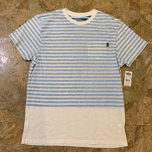 VANS Stripe Short Sleeve Pocket T-Shirt Men Large